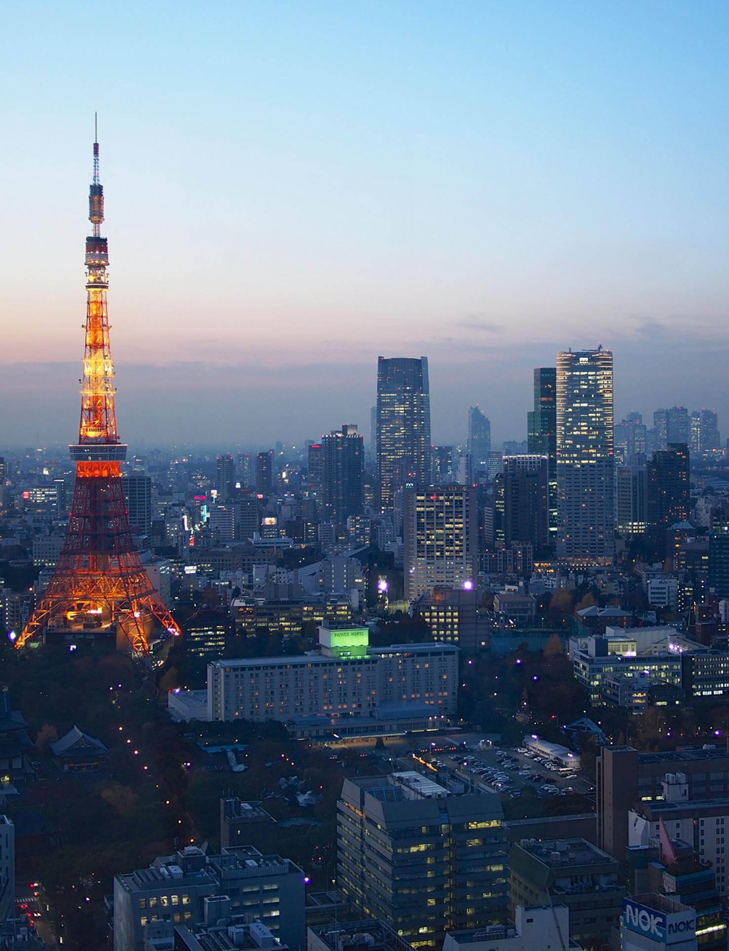 Blue Hour over Tokyo by Balint Foldesl 2