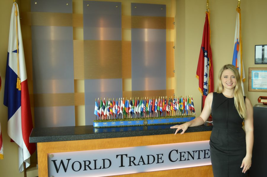 University of Arkansas graduate Jamie Allen of Little Rock, Ark. shared her experiences and the impact of her work as an intern for the World Trade Center Arkansas on the Gateways Podcast this week.