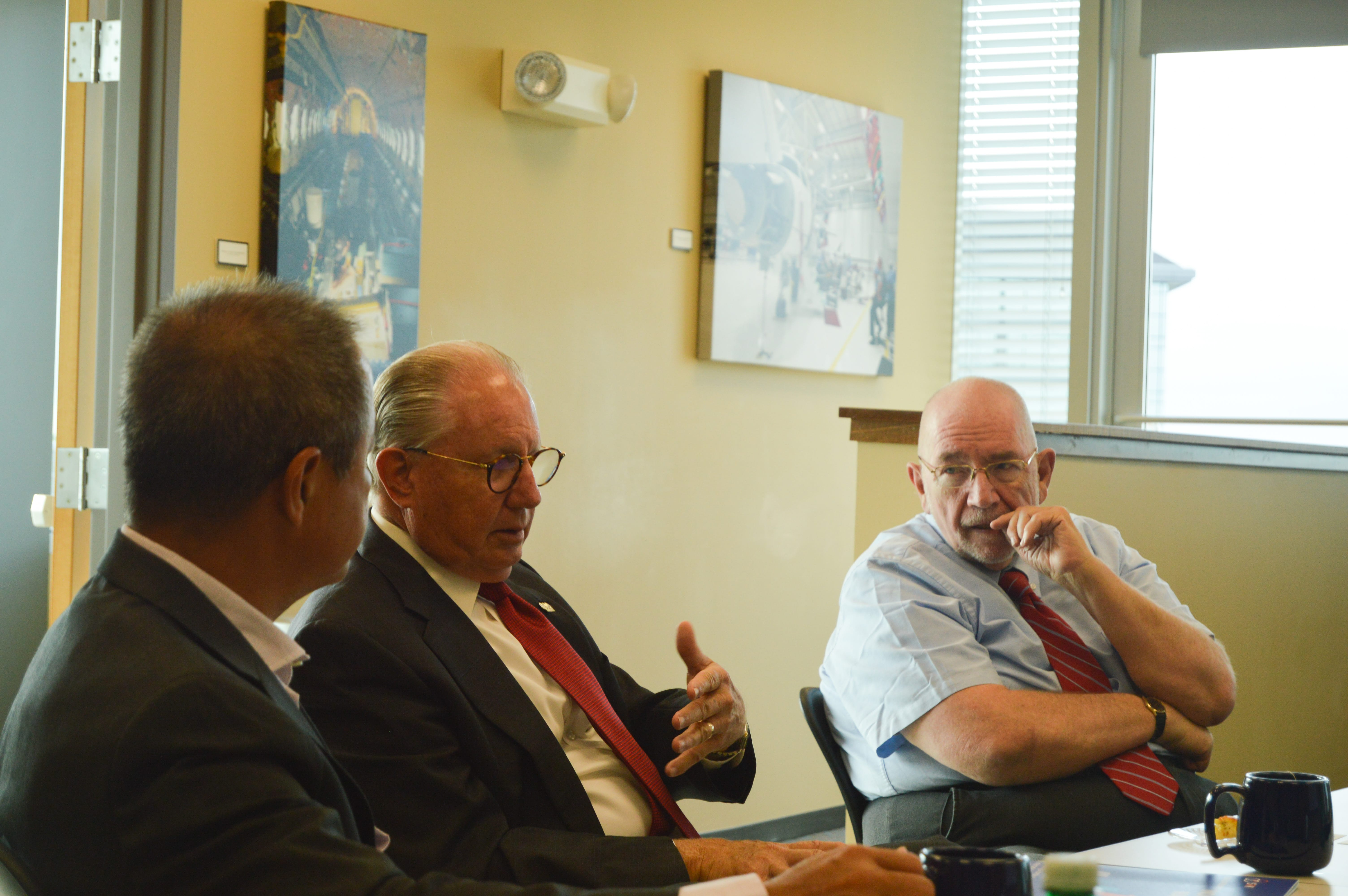 Four representatives of IBG Global, an international association of business consulting firms, met with the World Trade Center Arkansas (WTCAR) team Monday morning in Rogers