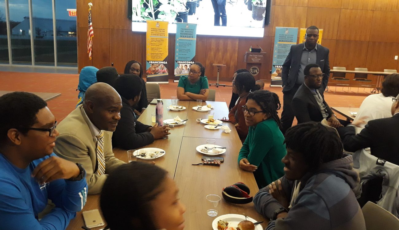 Astra Armbrister-Rolle, Consul General of the Bahamas in Atlanta meets with University of Arkansas deans, professors and students at the University of Arkansas, including Bahamian students and Northwest Arkansas Community members on Feb. 6, 2019 during her visit.