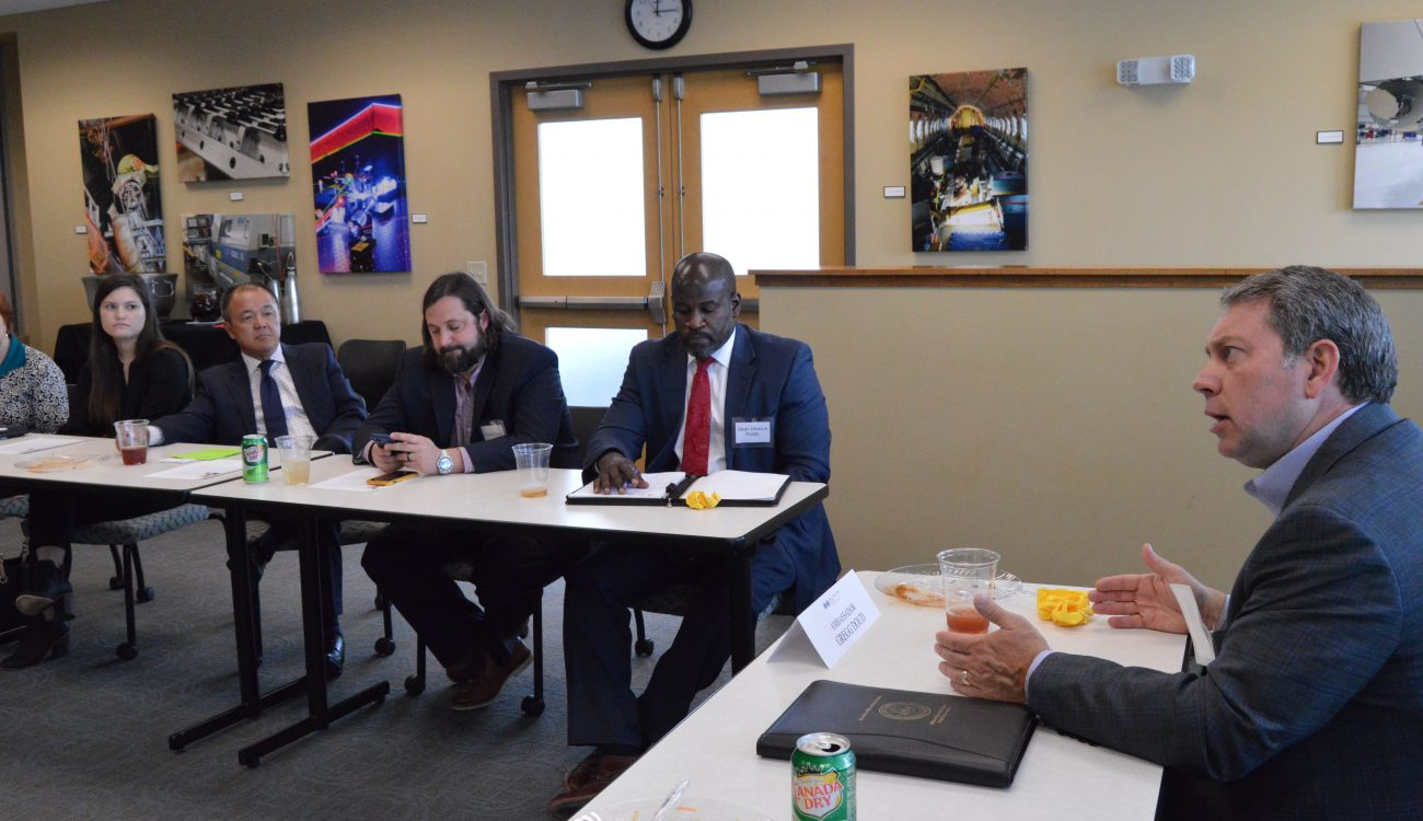 Gregg Doud, Chief Agricultural Negotiator for the United States Trade Representative discusses the challenges of negotiating trade with Asian countries to a group of Arkansas educators, businesses and government officials.