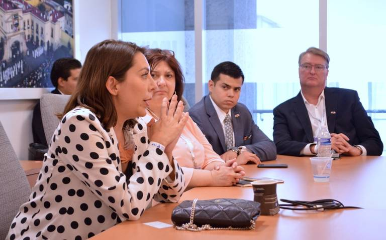 President of Coparmex Linda Jimenéz Salcedo meets with Arkansas delegation members from the aerospace, education and agriculture sectors in Querétaro, Mexico. Salcedo is interested in visiting Arkansas on an inbound mission to explore bilateral trade opportunities.