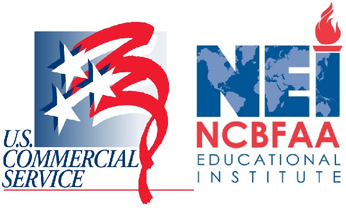 U.S. Commercial Service & NCBFAA Educational Institute Logos