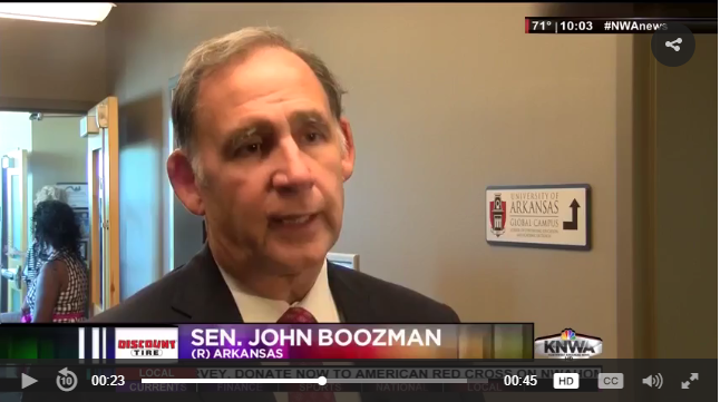 boozman for in the news