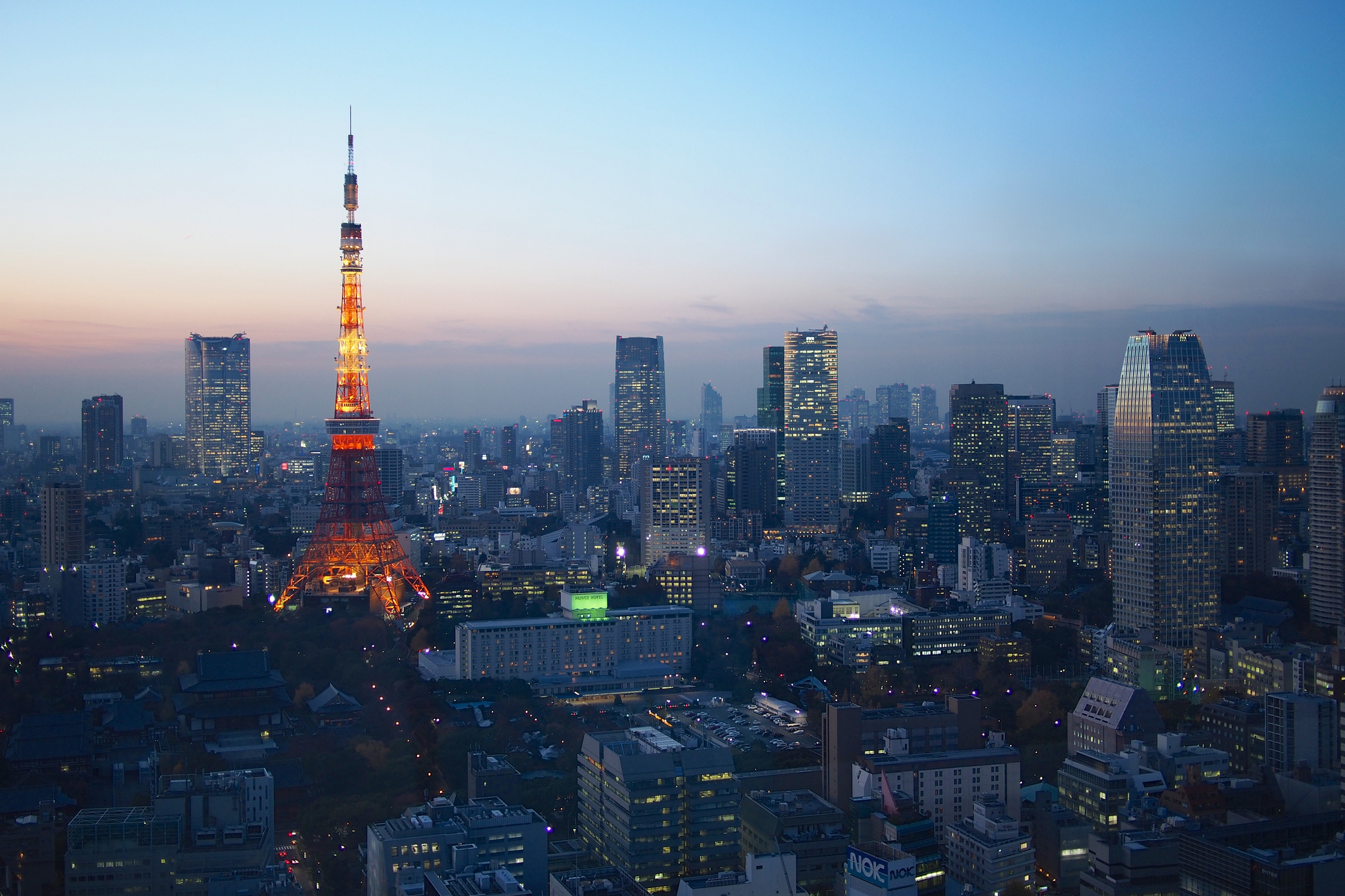 Blue Hour over Tokyo by Balint Foldesl