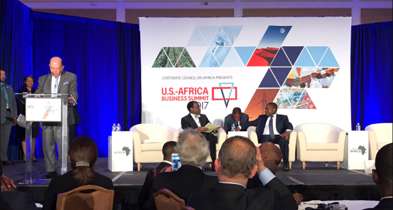 Secretary of Commerce, Wilbur Ross addresses the U.S.-Africa Business Summit.