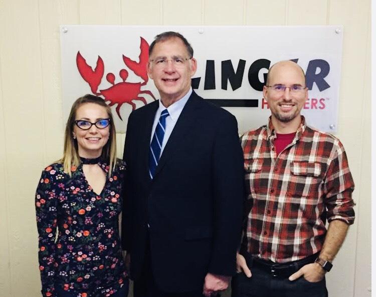 Senator John Boozman visited Clinger Holsters of November 21, 2017 and toured their facility in Van Buren, Ark.